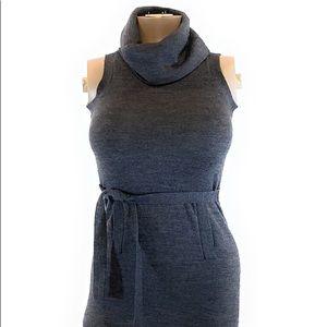 Design History wool grey sweater mini dress sz S